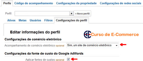 KPIs no e-commerce. Indicadores de performance do e-commerce configurados no Google Analytics